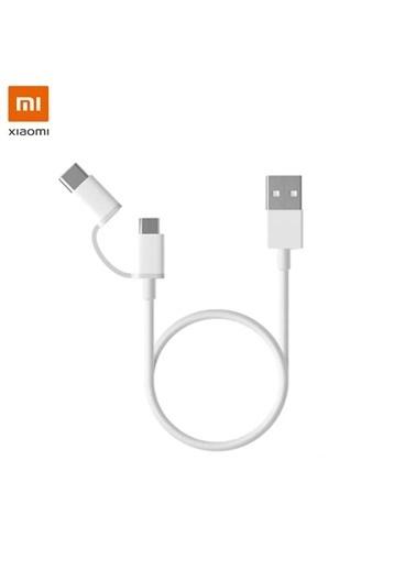 Xiaomi Xİaomi 2 in 1 Mikro USB + Type-C Sync Data Şarj Kablosu Renkli